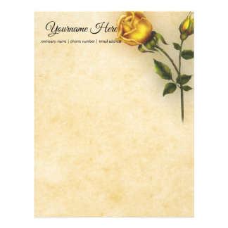 Create Your Own Yellow Rose Letterhead