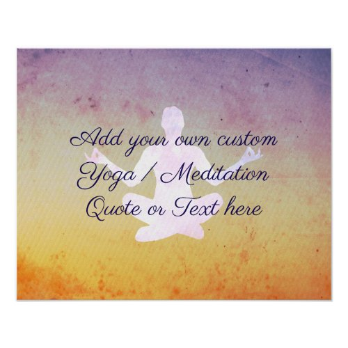Create your own Yoga  Meditation Quote or Text Poster