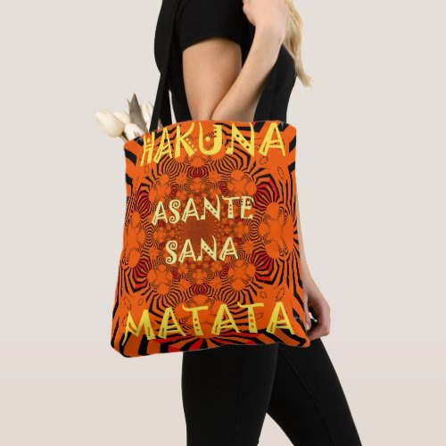 Create Your Own Zebra Print African style Tote