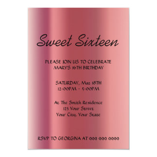 Create Your Sweet 16 Invitation