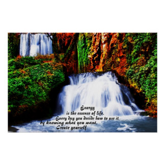 Create Yourself ~ Inspirational Waterfall Poster