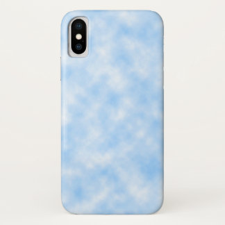 Created Blue and White Clouds Design iPhone X Case