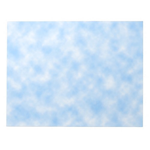 Created Blue and White Clouds Design Notepad