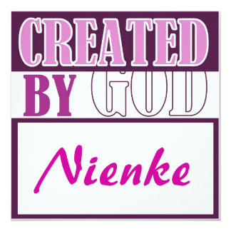 Created by God-meisje Card