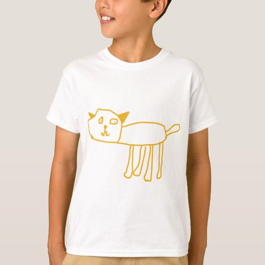 Created by Kids, Happy Pussy Cat by 6 Year Old Boy T-Shirt
