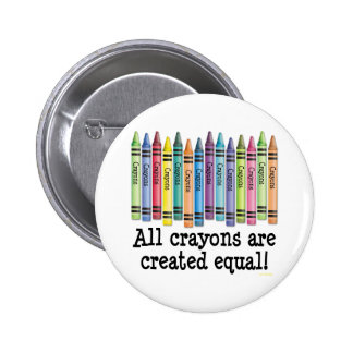 Created Equal 2 Inch Round Button
