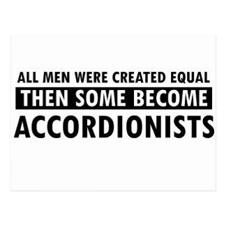 Created equally accordionists design postcard