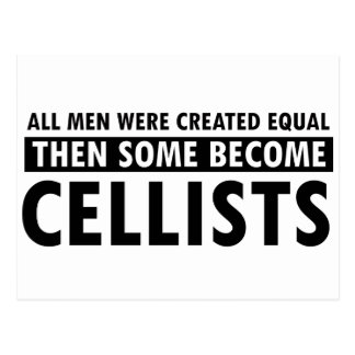 Created equally Cellists design Postcard