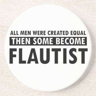 Created equally Flautist design Coaster