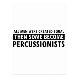 Created equally percussionist design postcard