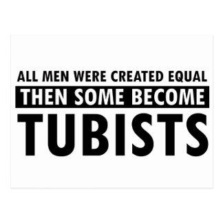 Created equally tubists design postcard
