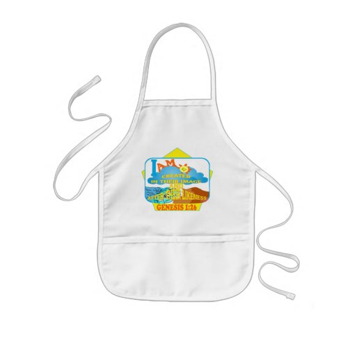 Created in Their Image  Apron Eng Kids Apron