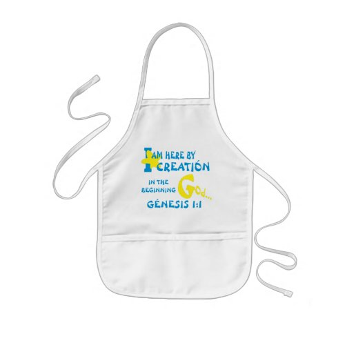 Created In Their Image Eng Kids Apron