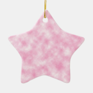 Created Pink Clouds Design on Star Shape Ceramic Ornament