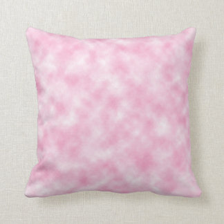 Created Pink Clouds Throw Pillow