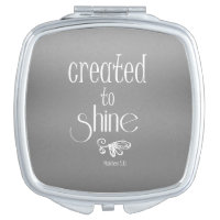 Created to Shine Quote Mirror For Makeup