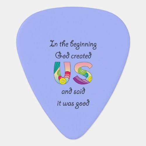 Created UsBlack Guitar Pick