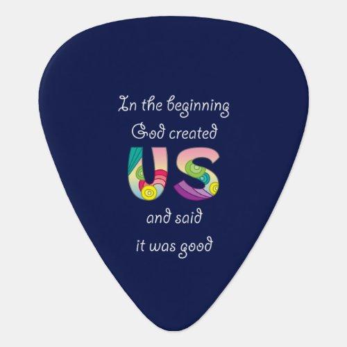 Created UsWhite Guitar Pick