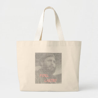 Created with the word Fidel Alejandro Castro Ruz. Large Tote Bag