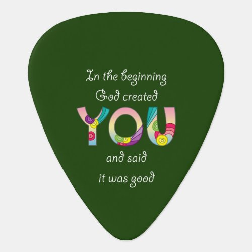 Created YouWhite Guitar Pick