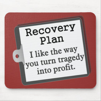 Creating a disaster recovery plan mouse pad