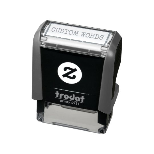 creating custom words with frame self inking stamp zazzle com