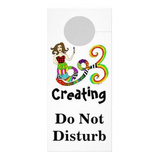 Creating Do Not Disturb Mermaid Muse Rack Card