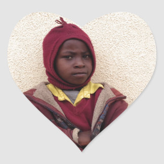 Creating Master Teachers: Abraham Maasai Student Heart Sticker
