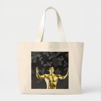 Creating Profit or Money Profits Easily With Man Large Tote Bag