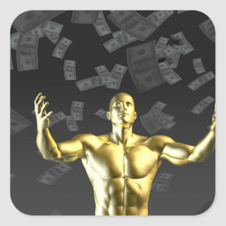 Creating Profit or Money Profits Easily With Man Square Sticker