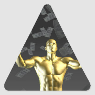 Creating Profit or Money Profits Easily With Man Triangle Sticker