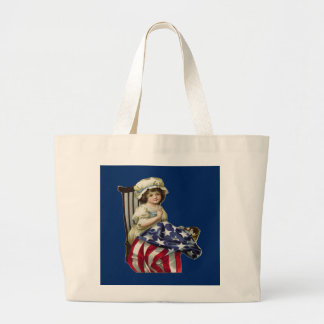 Creating the Flag Large Tote Bag