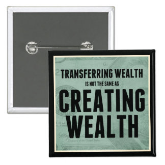 Creating Wealth 2 Inch Square Button