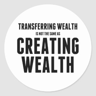 Creating Wealth Classic Round Sticker