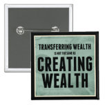 Creating Wealth Pinback Buttons