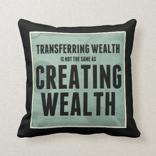 Creating Wealth Throw Pillows