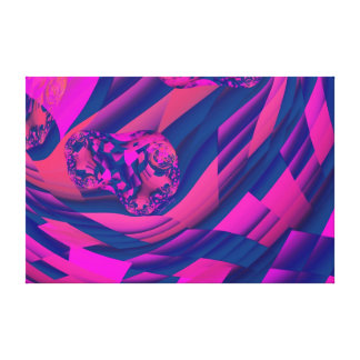 Creating Worlds – Abstract Fractal Magenta Magic Stretched Canvas Print