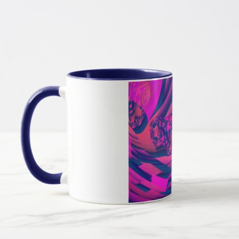Creating Worlds – Abstract Fractal Magenta Magic Mug