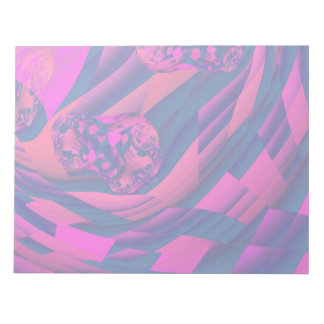 Creating Worlds – Abstract Fractal Magenta Magic Notepad