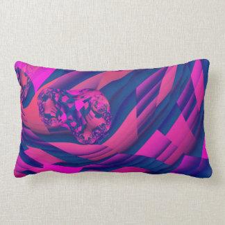 Creating Worlds – Abstract Fractal Magenta Magic Throw Pillows