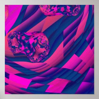 Creating Worlds – Abstract Fractal Magenta Magic Poster