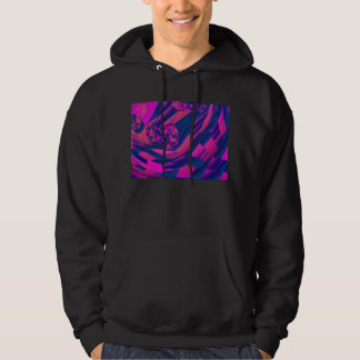 Creating Worlds – Abstract Magenta Sapphire Magic Hooded Pullover