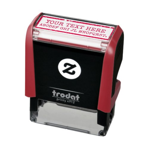 creating your own words  text red sign self_inking stamp