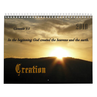 Creation, 2010 calendar