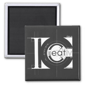 Creation 2 Inch Square Magnet