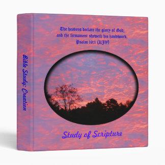 Creation Bible Study: Vibrantly Pink Sunrise Photo Binder