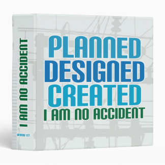 Creation binder: Planned Designed Created