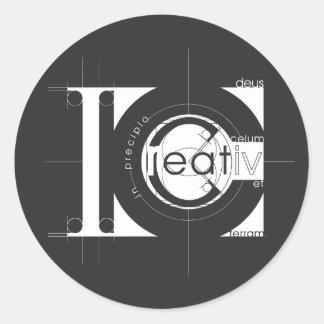 Creation Classic Round Sticker