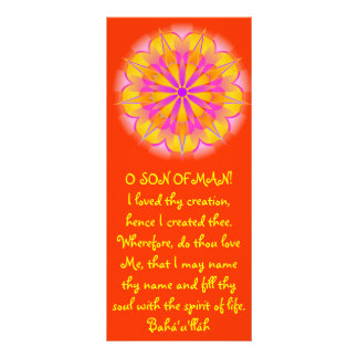 Creation Hidden Words Quote Personalized Rack Card