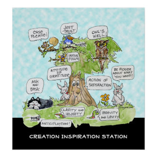 Creation Inspiration Station Cute Poster